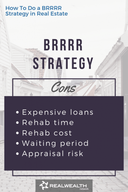 BRRRR Strategy Cons