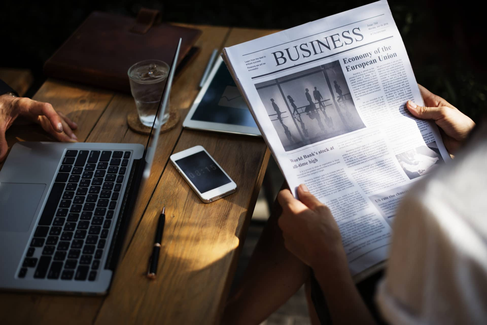 image of newspaper and phone for Real Estate News for Investors Podcast Episode #378