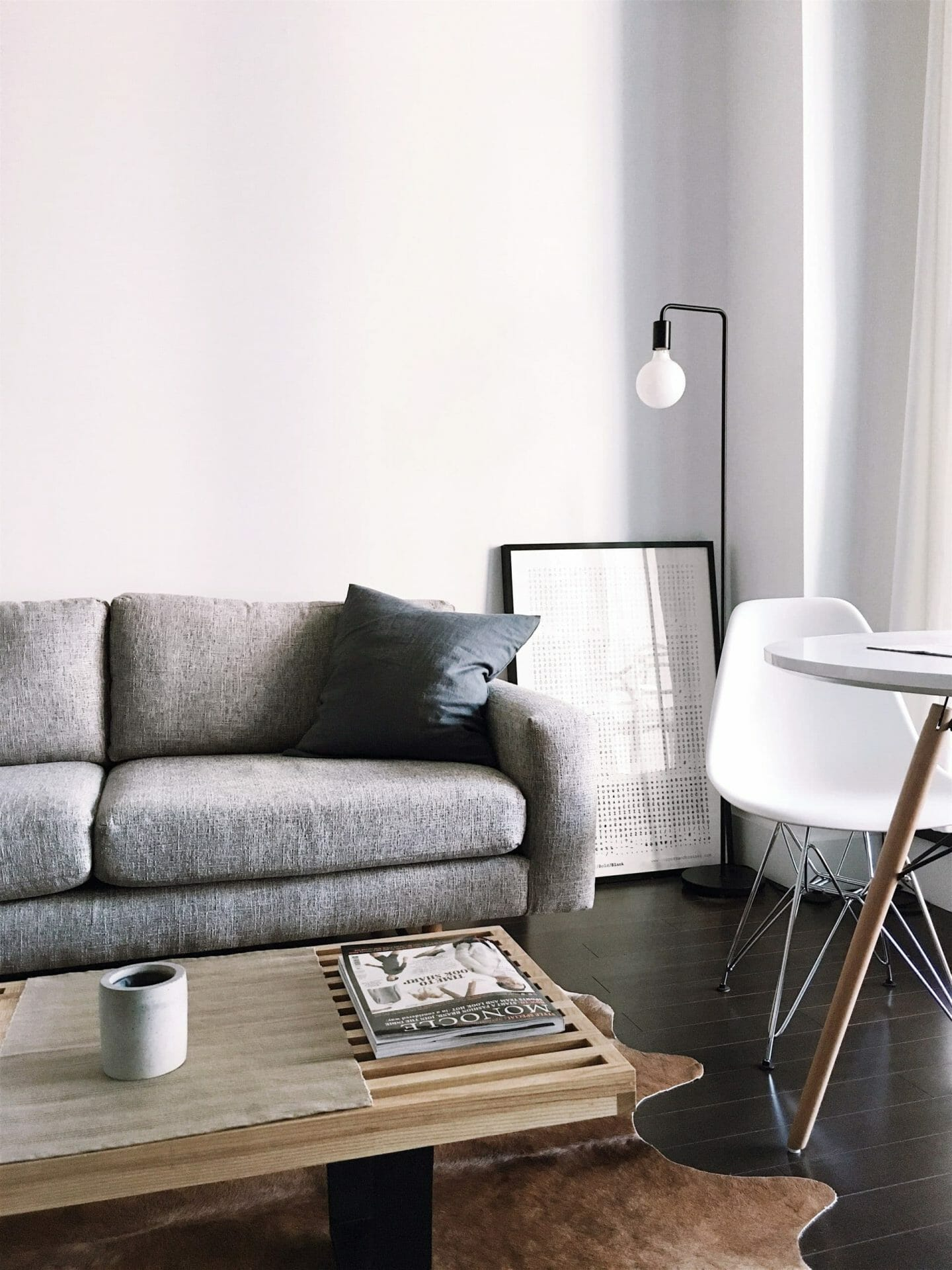 Picture of living room with couch and lamp for Real Estate News for Investors Podcast Episode #581