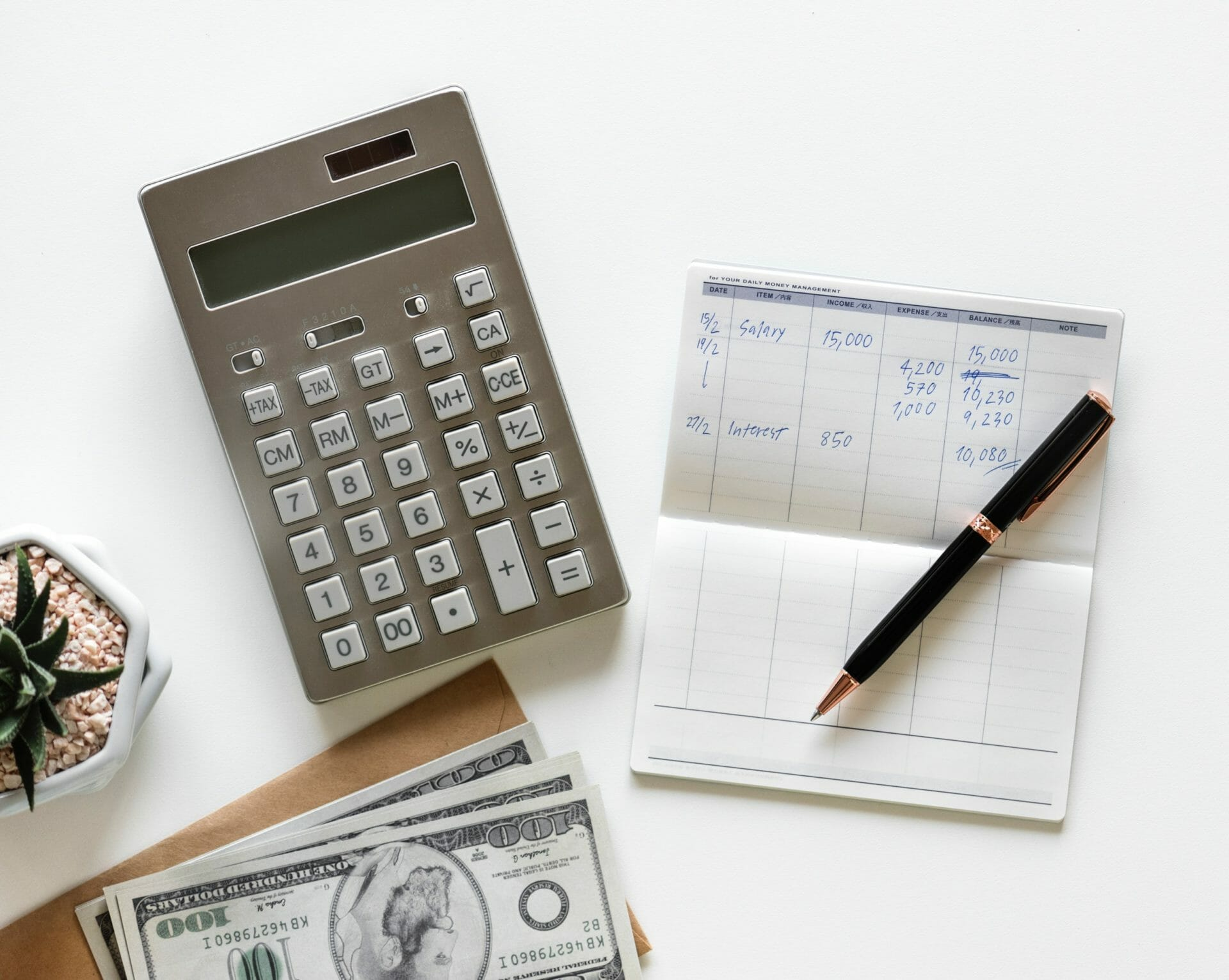 PIcture of calculator and money for Real Wealth Show Podcast Episode #639