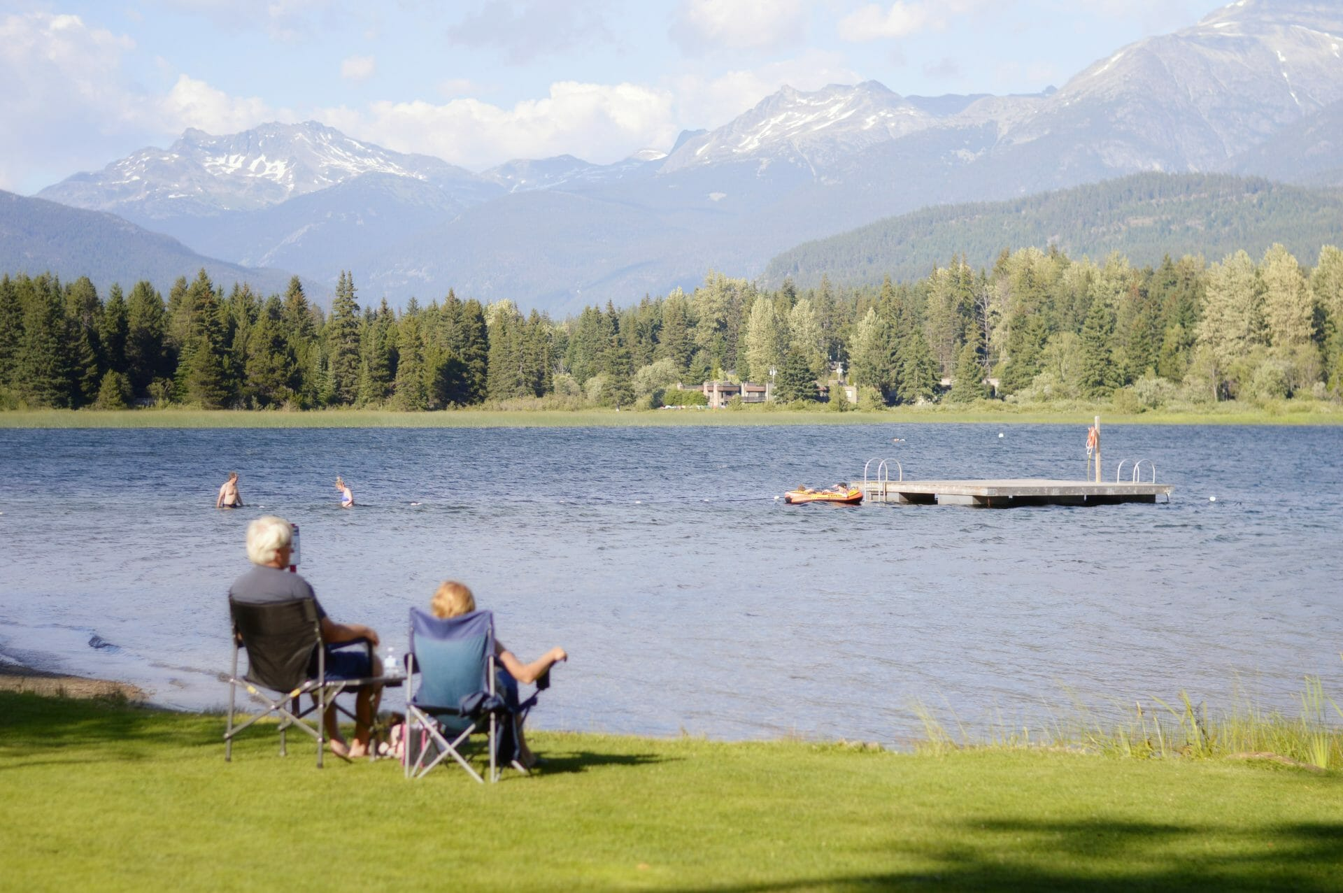 Picture of people sitting by lake for Real Wealth Show Podcast Episode #710