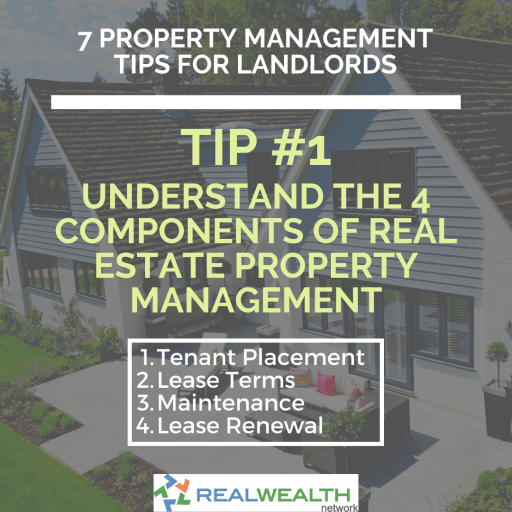 Image Highlighting the 4 Components of Real Estate Property Management