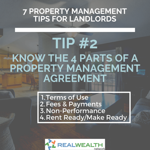 Image Highlighting the 4 Parts of a Property Management Agreement