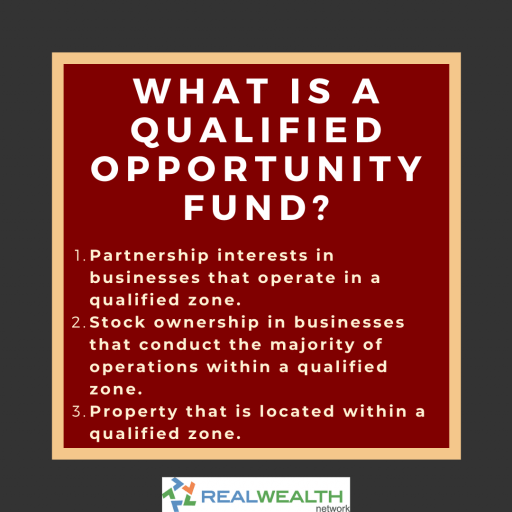 Image Highlighting a Qualified Opportunity Fund