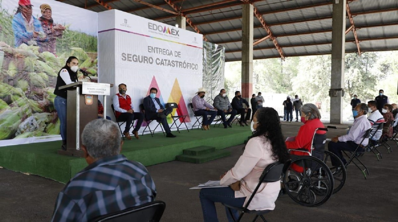 ENTREGA SEDAGRO SEGURO CATASTRÓFICO A PRODUCTORES MEXIQUENSES