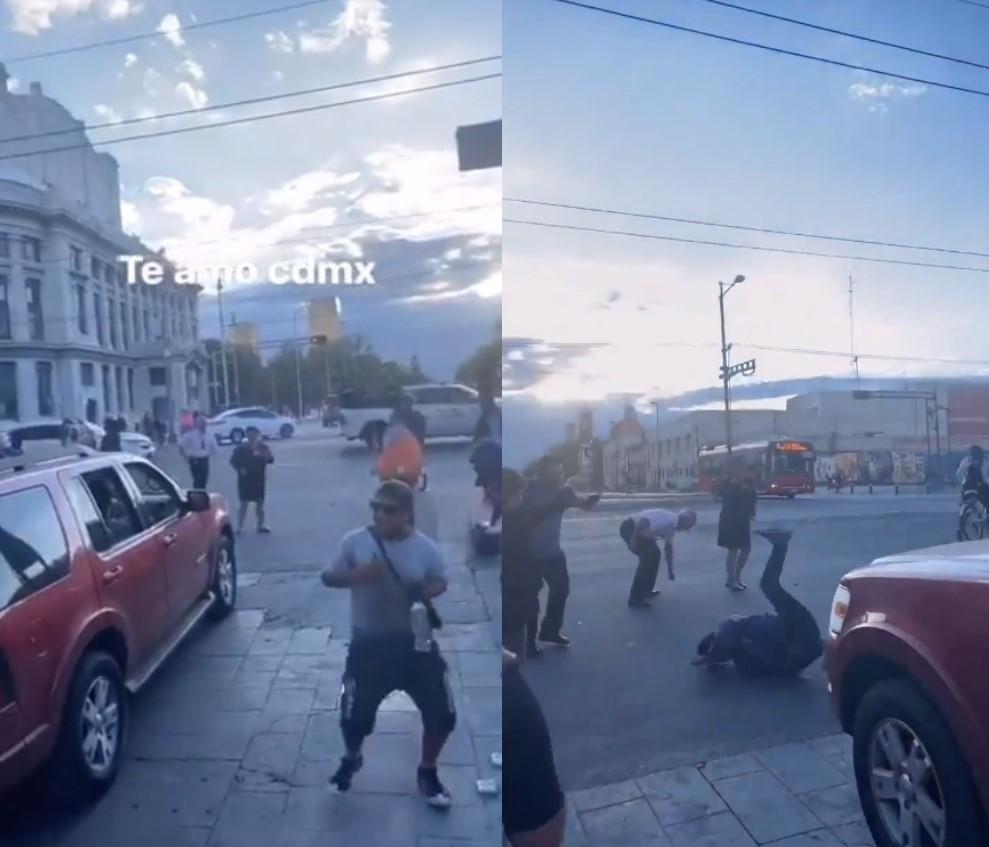 VIDEO: ARMAN BAILE CON LA CHONA EN UN SEMÁFORO DEL CENTRO HISTÓRICO