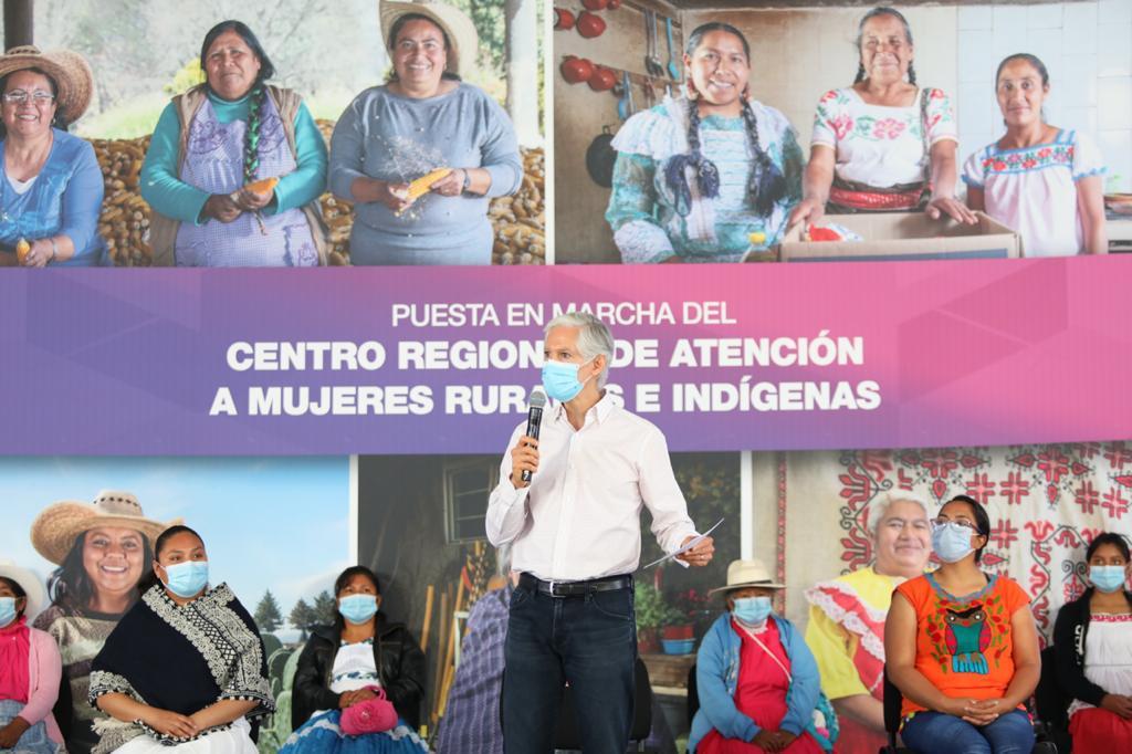ALFREDO DEL MAZO PONE EN MARCHA EL CENTRO REGIONAL DE ATENCIÓN A MUJERES RURALES E INDÍGENAS EN ACULCO