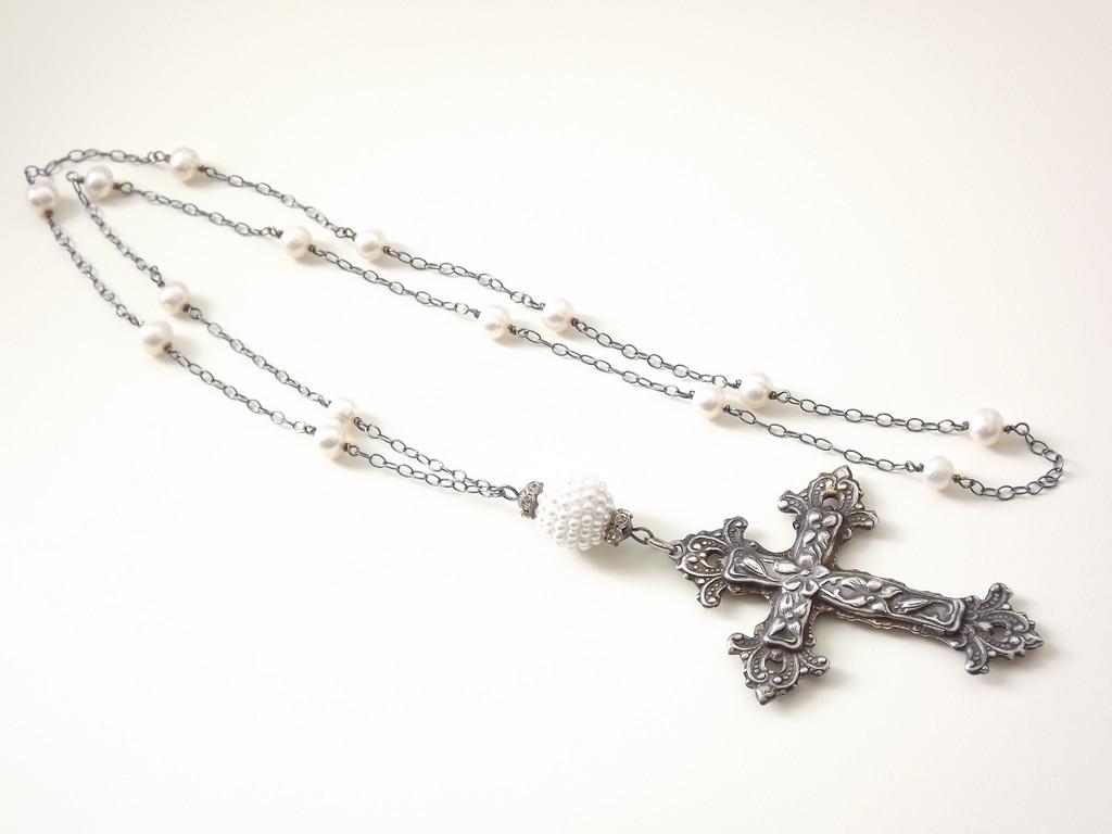 Vintage Cross Necklace Customer Design