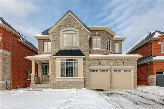 Newly Built This Year In A Sought After Enclave In North Whitby, This Stunning Stone & Brick 4 Bedroom Home With Over 3500Sq Ft Of Luxury Living Space Won't Last Long! Upgrades Abound With 10Ft Main Floor, Led Pot Lights & Custom Waffled Ceilings Thru-Out. Sweeping Hardwood Stairs Filled With Natural Lighting. Stunning Kitchen W/Quartz & Tile Finishes, S/S Apps & W/O To Yard. 9Ft 2nd Level, All Beds W/Ensuites & Huge Vaulted Master W/Spa Like 5Pc & Large W/I.