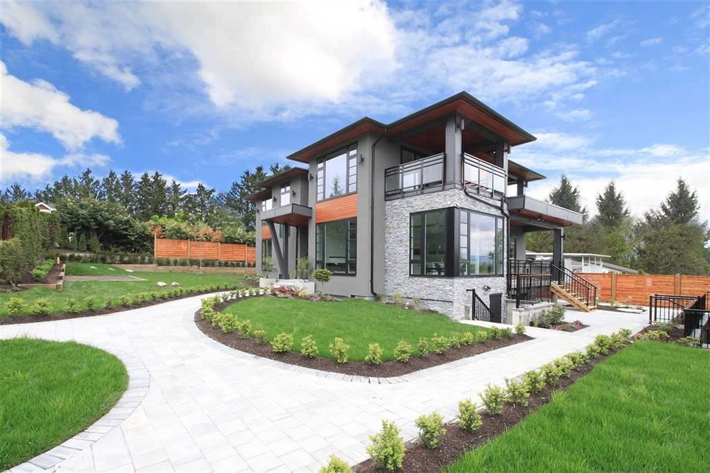 """Modern, Contemporary & Elegantly Designed Brand New """"9 Bdrms and 9 Baths"""" luxury home on a new surfaced street at a high-side beautiful corner lot at cul de sac, w/large windows & Eclips Barn door for stunning mountains view! Cedar Soffit, L/covered Sundecks! Modern Kitchen Cabinets w/Blum b/wares, Branded Appliances incl. Miele, BBQ, Huge island w/ gleaming c-top/b-flash & equipped with, Video surveillance, sound & smart lighting system, Acoustic wall system along Canadaway & Theatre. 2 Bdrm Legal Suite an 2 Bdrm potential suit w/separate entrance. Close to Deer Lake Parklands, Lakeview Elementary, Burnaby Central Secondary and all amenities. Also, short 5 mins drive to Robert Burnaby Park & 10 mins to Metrotown. HomePro Warr."""