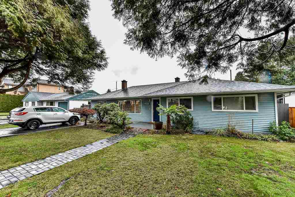 Rarely beautiful & excellent UPDATED bottom to top rancher! 10 points HOME on 8,052 sq ft lot (66'x122'). HW fls, open & spacious Kit. w/excel qlty granite, custom lighting & SS appls. Eating area & extra lge family rm leading to park like patio at backyard enjoying all year round entertainment w/built-in speakers both indoor & outdoor. Remod gas F/P welcome guest at living rm. Spacious master rm w/very functional W.I.C & ensuite bath. Extensively crown mldg thru-out. Upgraded wiring/lighting/plumbing, insulation & all windows! Separate entrance one bedroom ste. South facing back yard-fully fenced w/mature landscaping offers complete privacy, ideal for entertaining & leisure. Walk to Bby N. Secondary, Ecole Aubrey Elem & shopping. Close to SFU.