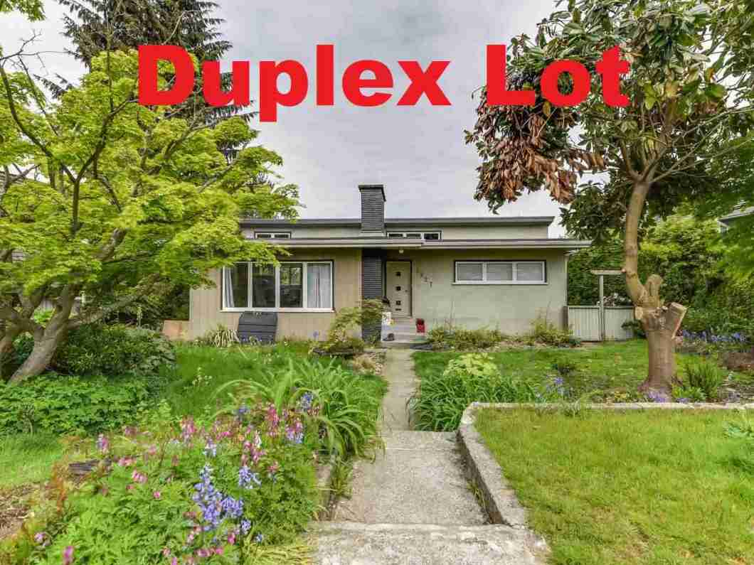 Builder and investor alert! huge 8700 sqft Duplex lot on Cascade height with breathtaking north shore mountain & city views from bedroom and sundeck. Located at quiet street in Burnaby hospital area with residents only parking and no exit sign. This rectangular 72.5x120 south facing duplex lot has back lane access and potential for subdivision of two 36.25x120 single family lots. Close to BCIT, Hospital, schools & transportation. Oil tank removed with certifcate. Fully finished basement with 2 bedrooms plus separate entrance. Best opportunity to own this very livable home for holding or new duplex development with mountain view from both floors and sundeck. Call today for your private viewing!