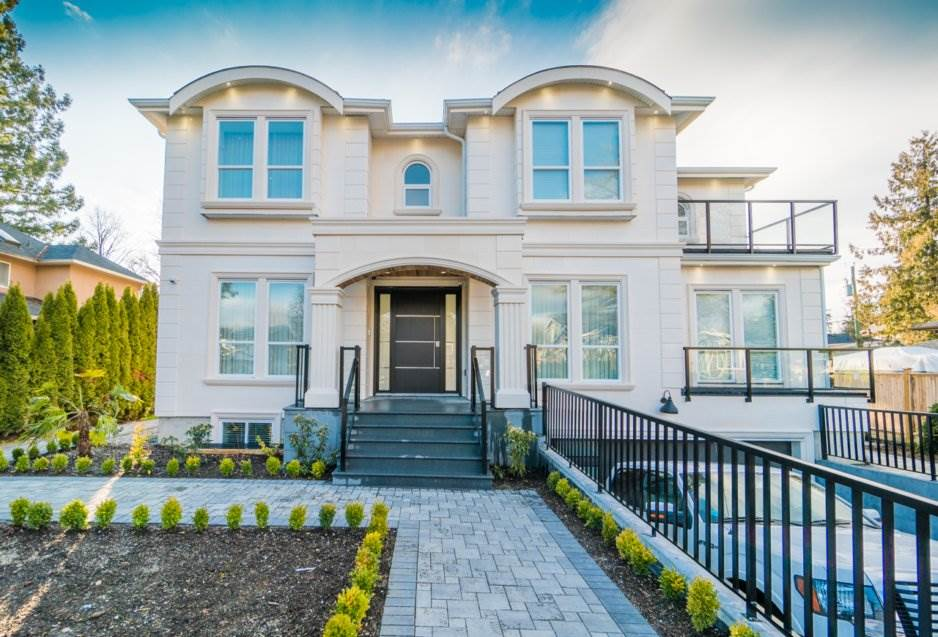Amazing brand new custom built home on a quiet street in prestigious Government Rd area. Modern and luxury 6 bedroom 7 bathroom including 20' vaulted ceiling dining room, built in wine rack, featured lighting, laundry in all levels. Open concept layout to the gourmet kitchen and a wok kitchen with top-line appliances. Maximum comfort kept in mind with A/C, tile floor with radiant heat, central audio system. Upper level luxurious master bedroom with massive walk-in closet and huge ensuite including three shower heads and steam shower. Basement has 2 bedrooms with 2 bath legal suite. Minutes away from shopping, public transit, Seaforth elementary school. Please give 24 hours notice and call L.R. for private showing.
