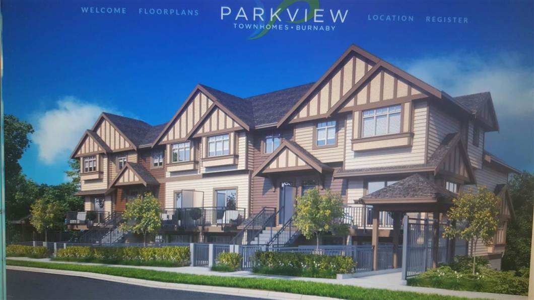 PARKVIEW TOWNHOMES, in the heart of Burnaby. Perfect balance of city living in a relaxing atmosphere. 2 bedroom 2 baths. 8 unique layouts to choose from. Quality stainless steel appliances to solid counter tops with undermount sinks. Completion March/April 2018 (NE CORNER UNIT)
