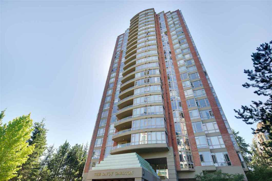 """Large 2 bedroom unit in sought after """"City in the Park"""" neighbourhood, this well maintained corner unit has fantastic 180 degree panoramic S, SE & SW unblocked views overlooking Mt Baker and all the way out to Vancouver Island. This unit impresses with functional floor plan, spacious rooms, a separated kitchen, oversized balcony, 9' floor to ceiling windows, upgraded kitchen countertop and laminate flooring throughout, 1parking & 1 storage locker and the spalike amenities include sauna, Jacuzzi, huge indoor pool, theatre, billiards, library and exercise room. Also, hard to beat location as you are a short walk from Edmonds Skytrain, Elementary School, High School, Daycare and Hiking Trail."""
