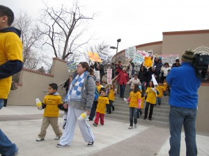Rally against repealing undocumented immigrant driver's license law, 2012. Image credit: Matthew Reichbach.