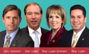 U_S_ Senators Tom Udall and Martin Heinrich with U_S_ Reps_ Ben Ray Luján and Michelle Lujan Grisham