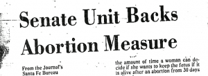 Senate Unit backs anti abortion bill 1979