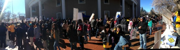 An estimated 200 people turned out to oppose HB 79 (sponsored by Rep. Bill Rehm, R-Albuquerque) and HB 39, which would create a separate state license or ID card for people who can't show proof of lawful entry into the U.S. Its sponsor Rep. Paul Pacheco, R-Albuquerque, said the two tiers of licenses will get the state into compliance with the federal REAL ID Act.
