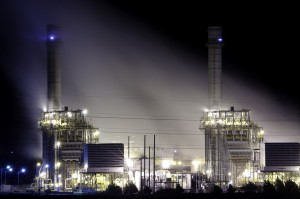 A natural gas fired generating plant. Photo Credit: Scott Butner cc