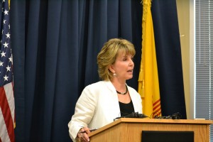 Second Judicial District Attorney at a press conference on May 21, 2015.  Photo Credit: Andy Lyman