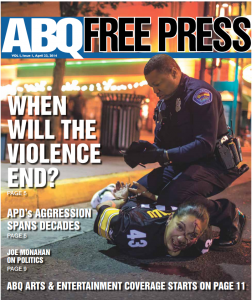 Cover of the first edition of ABQ Free Press.