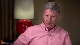 Gary Johnson on Reason TV.