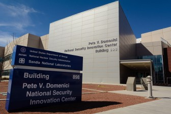 The Pete V. Domenici National Security Innovation Center at Sandia National Laboratories is named for the longtime New Mexico senator, renowned as a champion of nuclear weapons for more than three decades. Credit: Jerry Redfern for Reveal