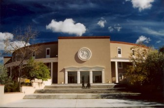 The New Mexico State Capitol, or Roundhouse, via Wikicommons.