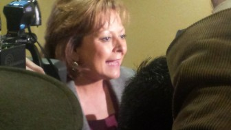 Susana Martinez speaks to reporters about FBI probes into her adminstration