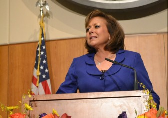Susana Martinez during the 2016 State of the State Address. Photo Credit: Andy Lyman.
