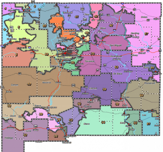 The State House of Representatives redistricting map adopted ahead of 2012 elections.