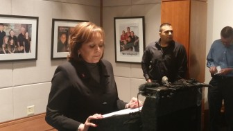 Gov. Susana Martinez at her post-session press conference in 2016.