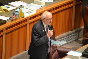 Sen. Jerry Ortiz y Pino, D-Albuquerque, on the Senate floor speaking about marijuana legalization.