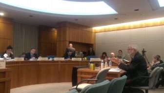 Sen. Jerry Ortiz y Pino, D-Albuquerque, presenting marijuana legalization to the Senate Rules Committee.