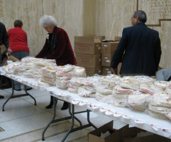 In 2010, opponents of a food tax gather tortillas to show legislators their opposition.