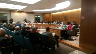 The Senate Public Affairs Committee hearing five driver's license bills in February, 2016.