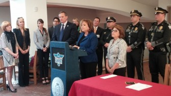 Gov. Susana Martinez at a press conference to sign the driver's license law on March 8, 2016.