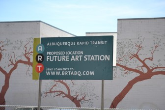 Albuquerque Rapid Transit sign in downtown Albuquerque