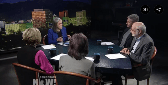 Democracy Now political roundtable. Host Amy Goodman was joined by former Gov. Gary Johnson, State Sen. Jerry Ortiz y Pino, State Sen. Sue Wilson Beffort and former Lt. Gov. Diane Denish.