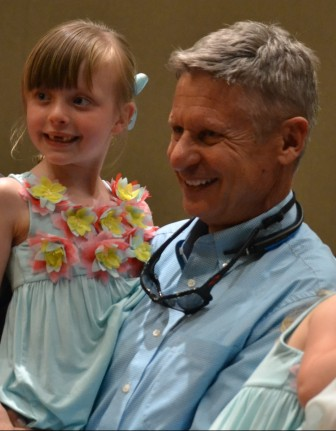 Grace Gessing and Gary Johnson