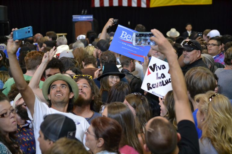 Crowd at Bernie Sanders rally at the Albuquerque Convention Center on May 20, 2016.