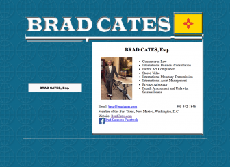Brad Cates' homepage.