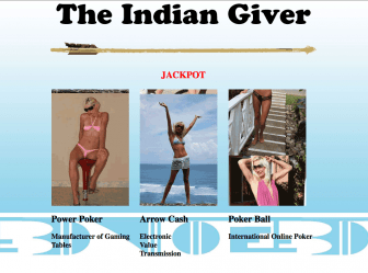 """""""The Indian Giver Jackpot,"""" which appears on Brad Cates' website."""
