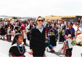 Hillary Clinton at Acoma Pueblo. Used with permission