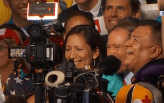 Screenshot of New Mexico delegation at the Democratic National Convention.