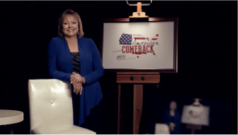 Screenshot from Republican Governors Association video that aired at Republican National Convention.