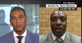 CNN host Don Lemon, left, and Anwar Sanders, right.