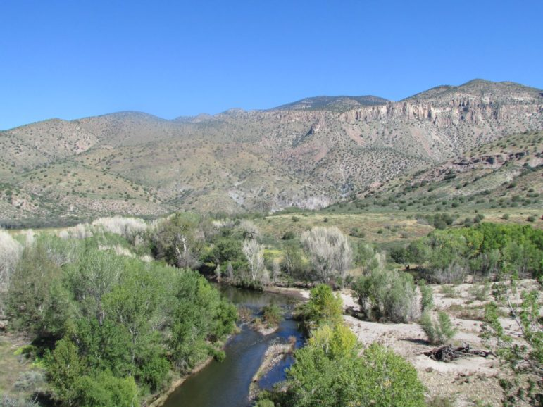 The proposed diversion would be built just upstream of this stretch of the Gila River.