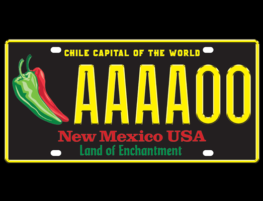State announces a chile license plate